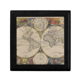 Novissima Totius Terrarum Orbis Tabula Map Jewelry Box