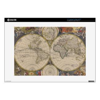 "Novissima Totius Terrarum Orbis Tabula Map 15"" Laptop Skin"