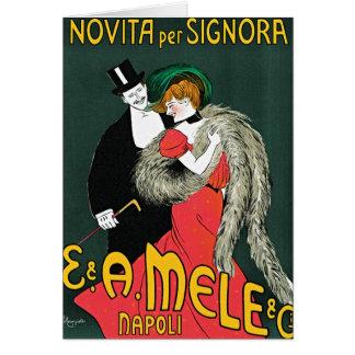 Novita per Signora by Leonetto Cappiello Greeting Card