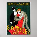 Novita por el italiano 1903 del vintage del ~ del  poster