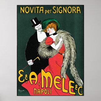 Novita por Signora de Leonetto Cappiello Poster