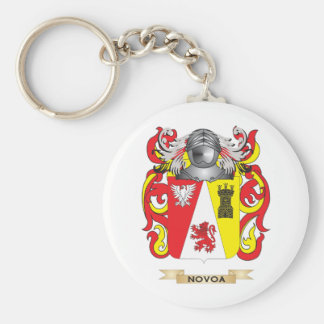 Novoa Coat of Arms (Family Crest) Keychain