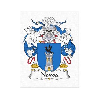Novoa Family Crest Canvas Print