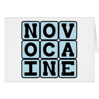 Novocaine anestésico dental felicitacion