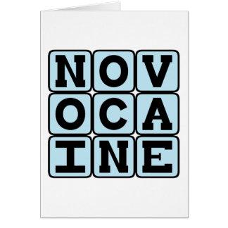 Novocaine, anestésico dental tarjeta de felicitación