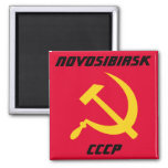 Novosibirsk, CCCP Soviet Union Fridge Magnets