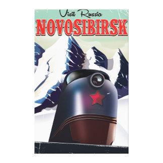 novosibirsk locomotive travel poster canvas print