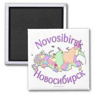 Novosibirsk Rusia Imán Cuadrado