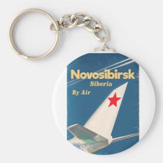 Novosibirsk Siberia soviet union flight poster Keychain