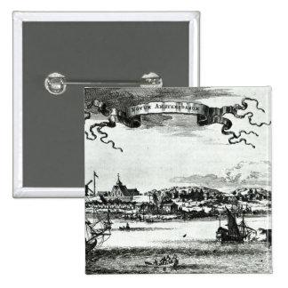 Novum Amsterodamum, c.1667 Button