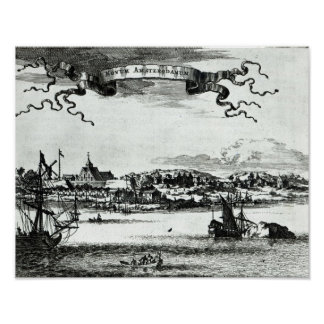 Novum Amsterodamum, c.1667 Poster