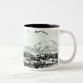 Novum Amsterodamum, c.1667 Two-Tone Coffee Mug