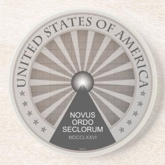 Novus Ordo Seclorum Posavasos Manualidades