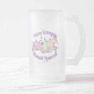 Novy Urengoy Russia Frosted Glass Beer Mug
