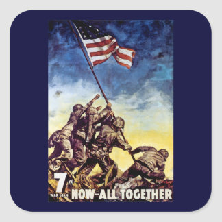 Now All Together ~ Iwo Jima Square Sticker