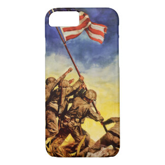 Now all together Vintage War Poster Restored iPhone 7 Case