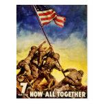 Now all together Vintage War Poster Restored Postcard