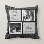 Now and Forever Black and White Pattern Pillow