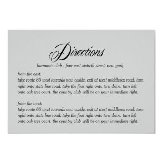 Now and Forever Directions Card