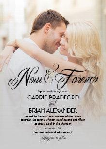 photo wedding invitations zazzle