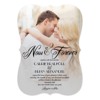 now and forever photo wedding invitations - Picture Wedding Invitations