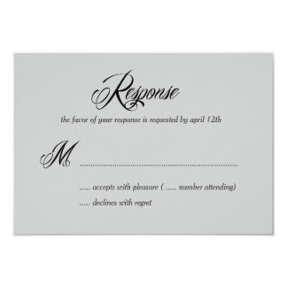 Now and Forever RSVP /Wedding Response Cards