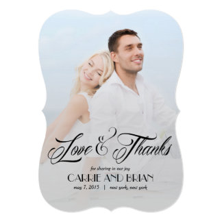Now and Forever Wedding Thank You Card Custom Invite