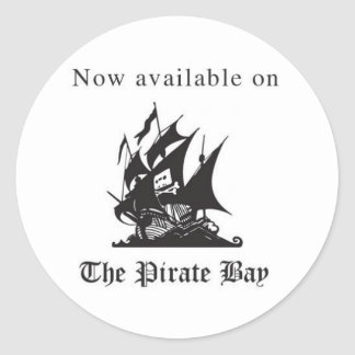 Now available on The Pirate Bay Classic Round Sticker