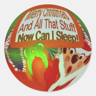Now Can I Sleep Christmas  Sticker