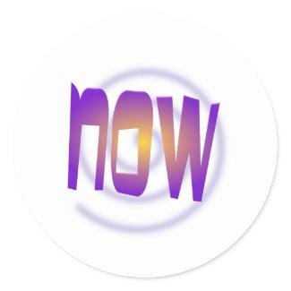 now classic round sticker