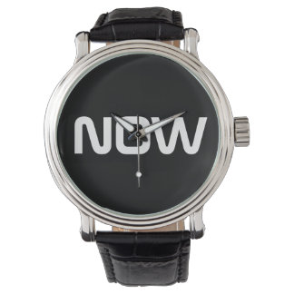 Now Classy Elegant Black Wrist Watch