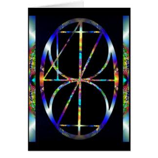 Now ~ Cosmic Egg Fractal Mandala Card