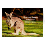 Now don't start jumpin' greeting card