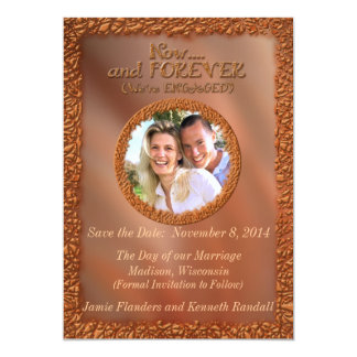 Now & Forever Bronze Save the Date Photo Card
