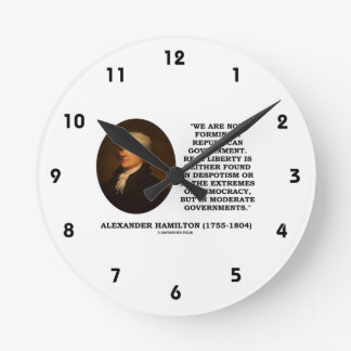 Now Forming A Republican Government Real Liberty Round Clock