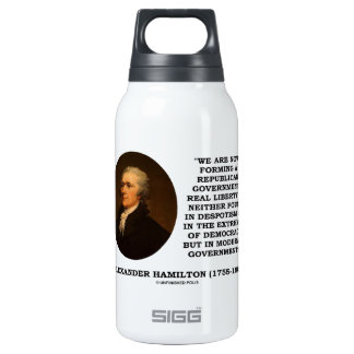 Now Forming A Republican Government Real Liberty Thermos Water Bottle