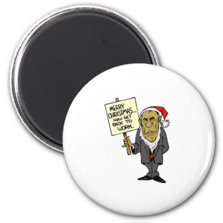 Now Get Back To Work Christmas Boss 2 Inch Round Magnet