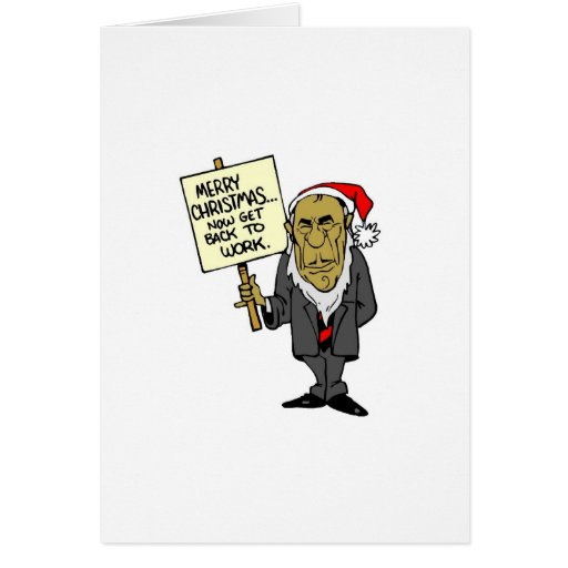 Now Get Back To Work Christmas Boss Greeting Card