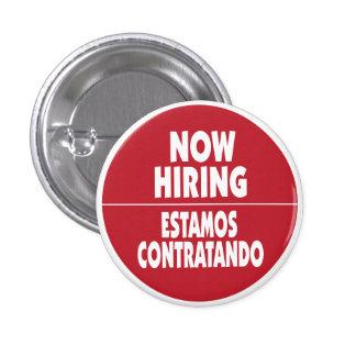 Now Hiring Bilingual English Spanish Button
