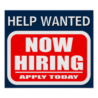 Now Hiring Help Wanted Job Vacancy Announcement Poster