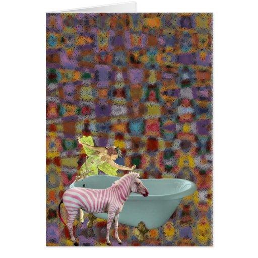 Now How Do I Give A Zebra A Bath? Greeting Card