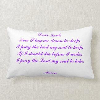 Now I Lay Me Down To Sleep Lumbar Pillow