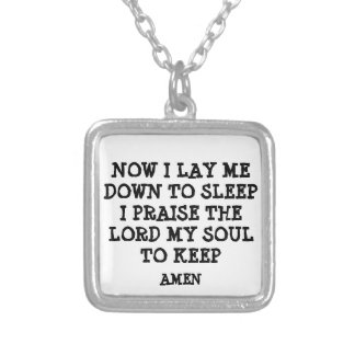 now i lay me down to sleep Necklace