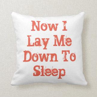 Now I Lay Me Down To sleep, orange, throw pillow. Throw Pillow