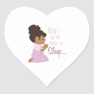 Now I Lay Me Down To Sleep Heart Sticker