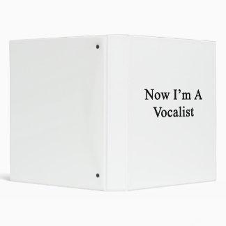 Now I'm A Vocalist Vinyl Binders