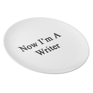 Now I'm A Writer Party Plate