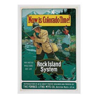 Now is Colorado Time Poster Vintage