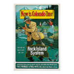 Now is Colorado Time Vintage travel advertisement Print