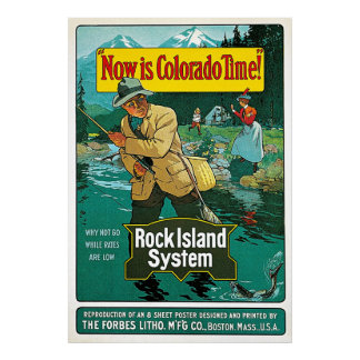 Now is Colorado Time Vintage travel advertisement Poster